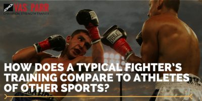 How does a typical fighter's training compare to athletes of other sports?