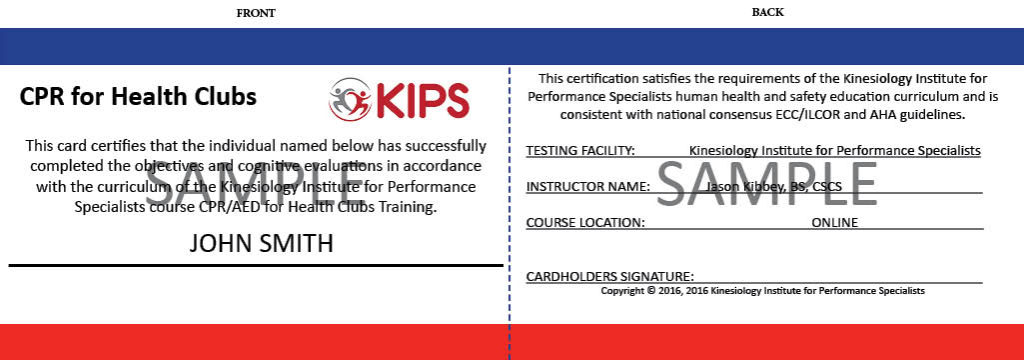 100 online cpraed training for health clubs kips sample cpr card maxwellsz