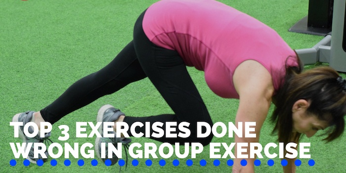 Top 3 Exercises Done Wrong in Group Exercise