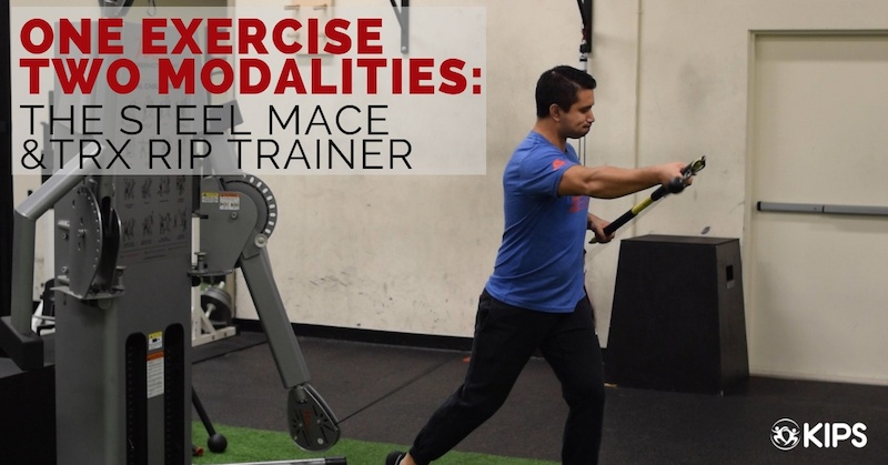 One Exercise Two Modalities: The Steel Mace & TRX Rip Trainer Press