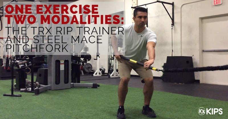 One Exercise Two Modalities: The TRX Rip Trainer & Steel Mace Pitchfork
