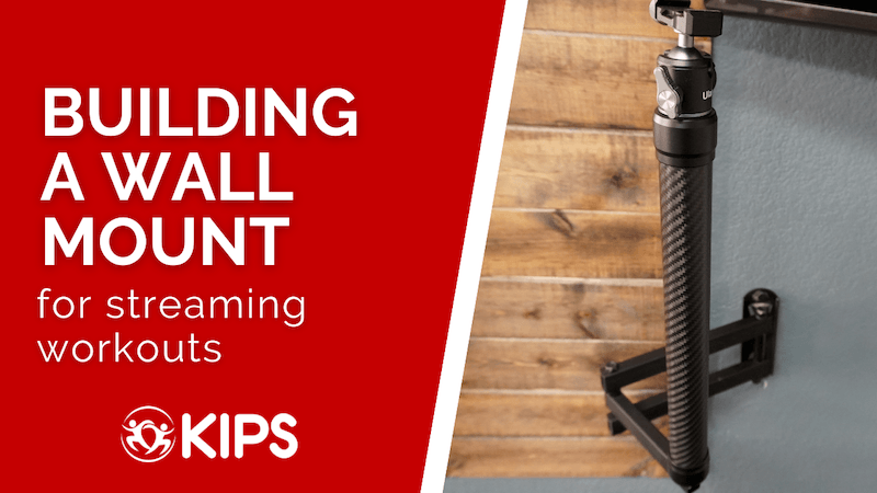 Building a Wall Mount | for streaming workouts